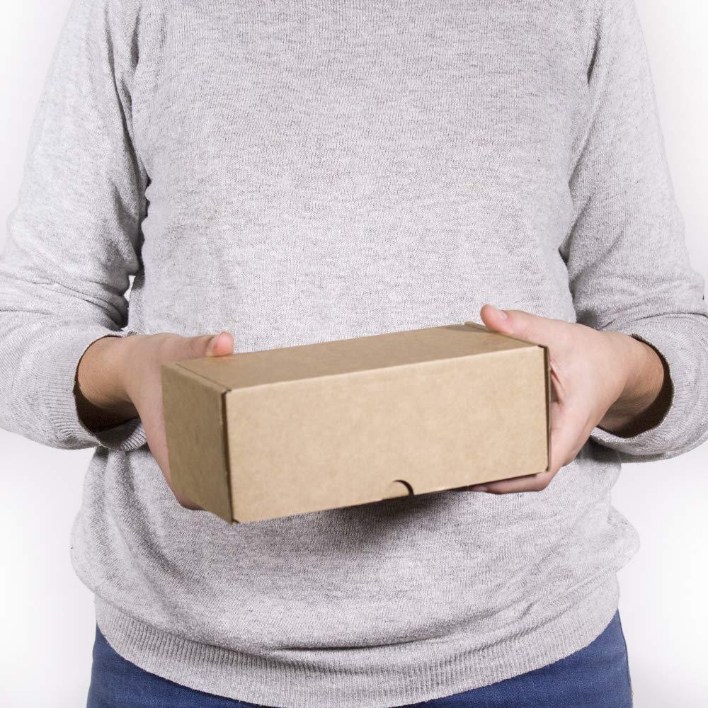 20X9X7 Il Kartox Scatola di cartone Kraft per spedizione postale -M confezione da 20 Scatola di cartone Autoinstallabile per la spedizione o lo stoccaggio