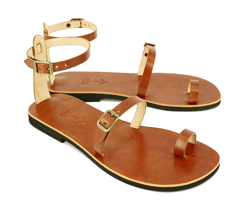 4f46dab35827 Amazon.com  EXPEDITED SHIPPING Sandals Toe Ring Sandals Leather Sandals  Strappy Sandals Greek Sandals - Breeze  Handmade