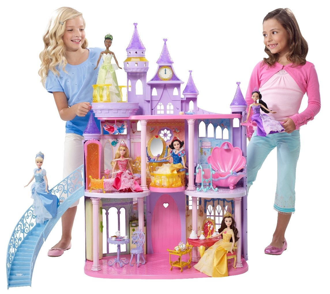 amazoncom disney princess castle toys games
