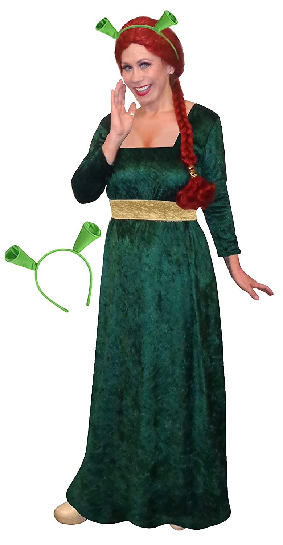 Sanctuarie Designs Women\'s Princess Fiona Plus Size Supersize Halloween  Costume Dress
