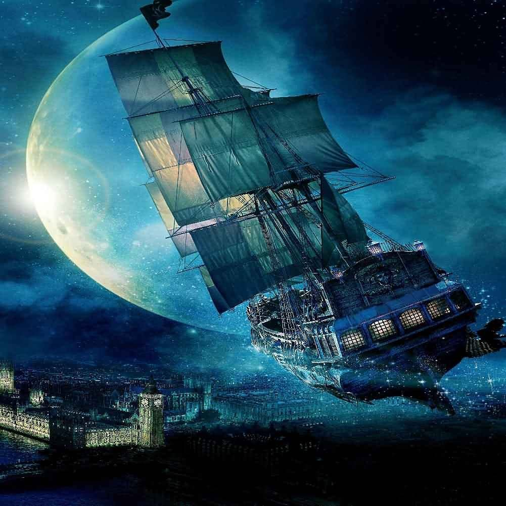 GladsBuy Sailing with Window 8 x 12 Computer Printed Photography Backdrop Magic Theme Background LMG-042