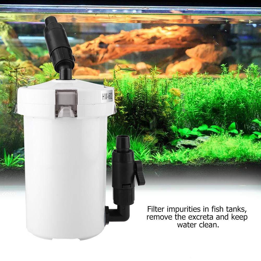 Tanque de Peces de Acuario Filtro Externo con Bomba Tabla Silenciar Filtros Cubo HW-602 HW-603 HW-602B HW-603B(#1): Amazon.es: Productos para mascotas