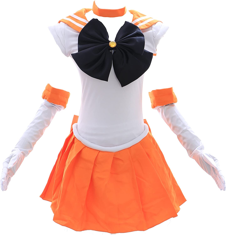 Kawaii-Story H de 6003 Sailor Moon Venus Naranja Blanco Cosplay ...
