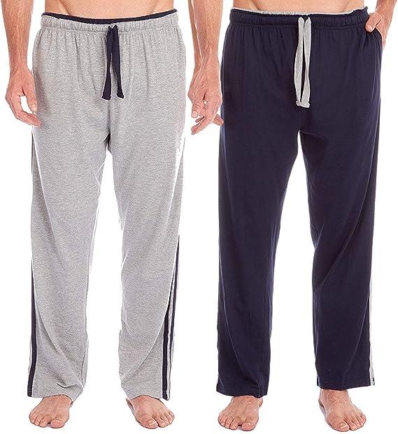 Insignia 2 Pack Mens Pijama Salón Pantalones de Chándal Suave ...