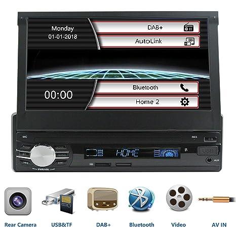 LEXXSON Estéreo de Coche de una Sola DIN con Radio Dab Dab+ FM Bluetooth, Pantalla