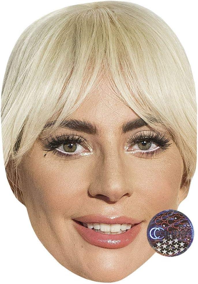 Smile Lady Gaga Celebrity Mask Card Face and Fancy Dress Mask