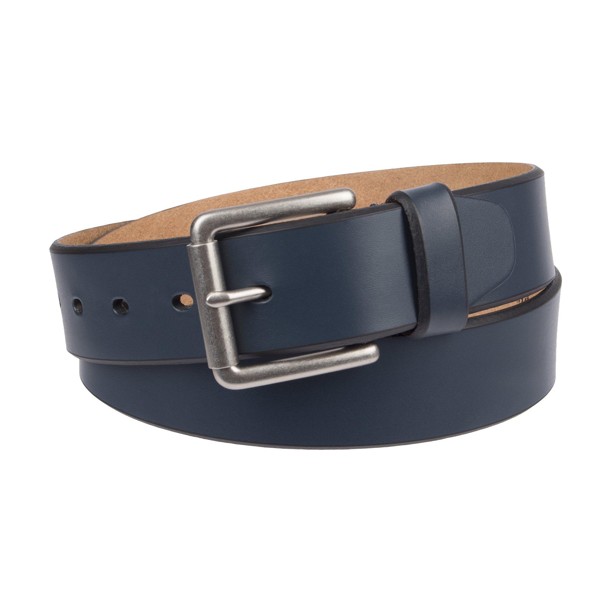 Dockers Men's 1 1/2 In. Leather Bridle Belt-navy, 32