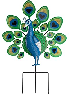 Miles Kimball Peacock Lawn Stake By Maple Lane Creations