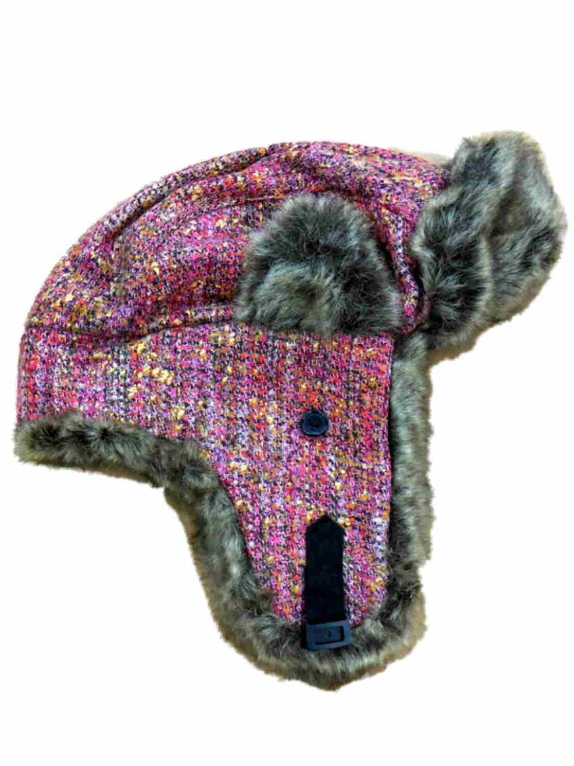 Mudd Women's Pink Knit Trapper Style Hat With Faux Fur Lining by Mudd (Image #1)