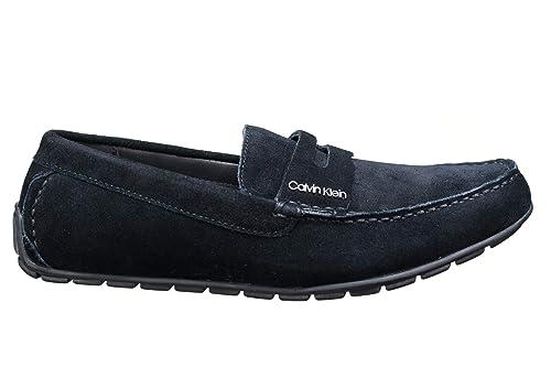 Calvin Klein Mocasines de Piel Vuelta Hombre, Negro (Negro), 43 EU: Amazon.es: Zapatos y complementos