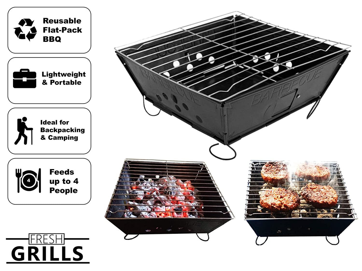 Bar-be-quick Disposable Instant Charcoal Bbq Home & Garden Twin Pack New Varieties Are Introduced One After Another