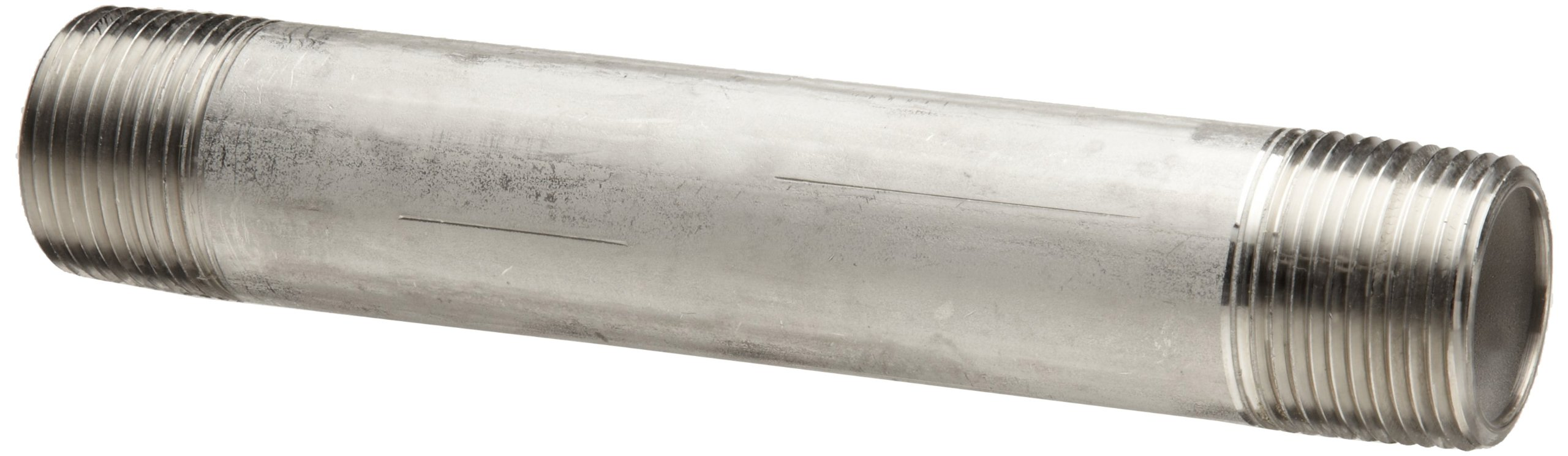 Stainless Steel 316/316L Pipe Fitting, Nipple, Schedule 40 Welded, 3/4'' X 6'' NPT Male