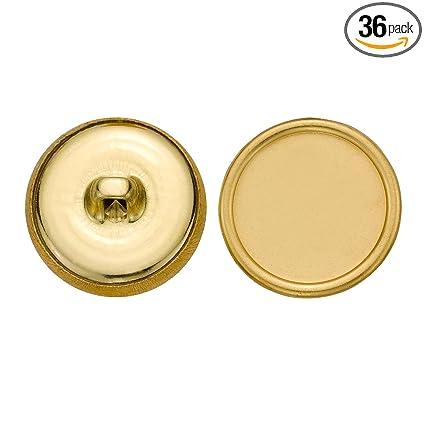 Size 30 Ligne 36-Pack C/&C Metal Products 5200 Plain Rim Metal Button Gold