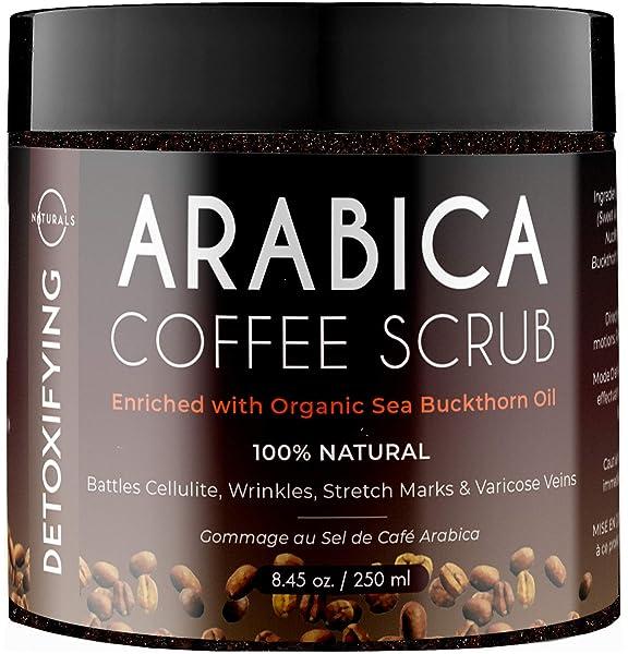 Amazon Com O Naturals Anti Cellulite Exfoliating Organic Coffee