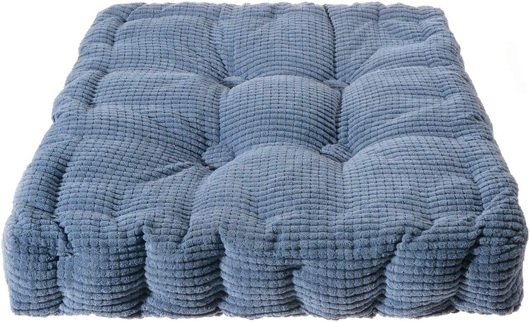Saim Square Floor Pillow Soft Seat Cushion Indoor Outdoor Pad for Home Office Patio Dining Chairs 15.3inches Blue