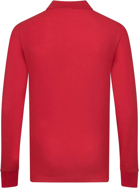 Liverpool FC - Polo de manga larga oficial - Para niño - Rojo - 6 ...