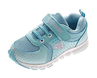 watch f9f41 6668a Kinder Sneaker Mädchen Halb Schuhe Aufdruck Klettverschluss ...