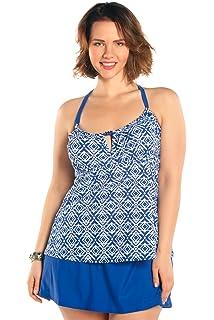 81243580e2 Always For Me Women's Plus Size Aegean Two Piece Tankini Set - Ladies'  Bathing Suit