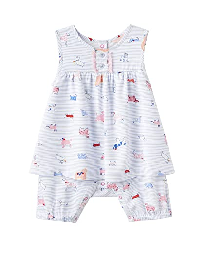 200801c2d6 Joules Baby Woven Romper - Sky Blue Dog: Amazon.co.uk: Clothing