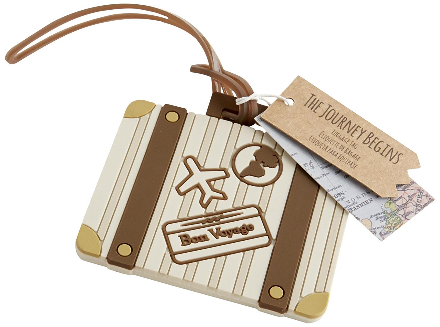 Let the Journey Begin Vintage Suitcase Luggage Tag by Kateaspen