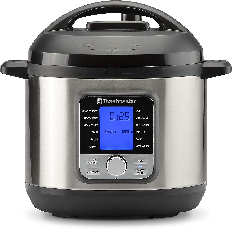 Toastmaster TM-673PC Pressure Cooker, 6 quart, Black