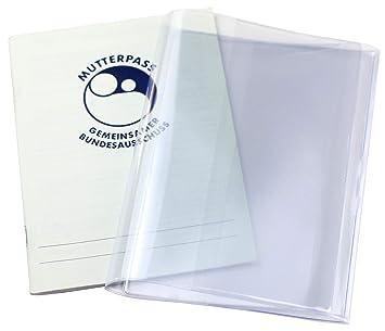 3-teilige Mutterpasshülle transparent stabile Schutzhülle Mutterpass Schwanger