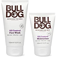 Bulldog Mens Skincare and Grooming Oil Control Starter Kit with Moisturizer and Face Wash, 2 Count