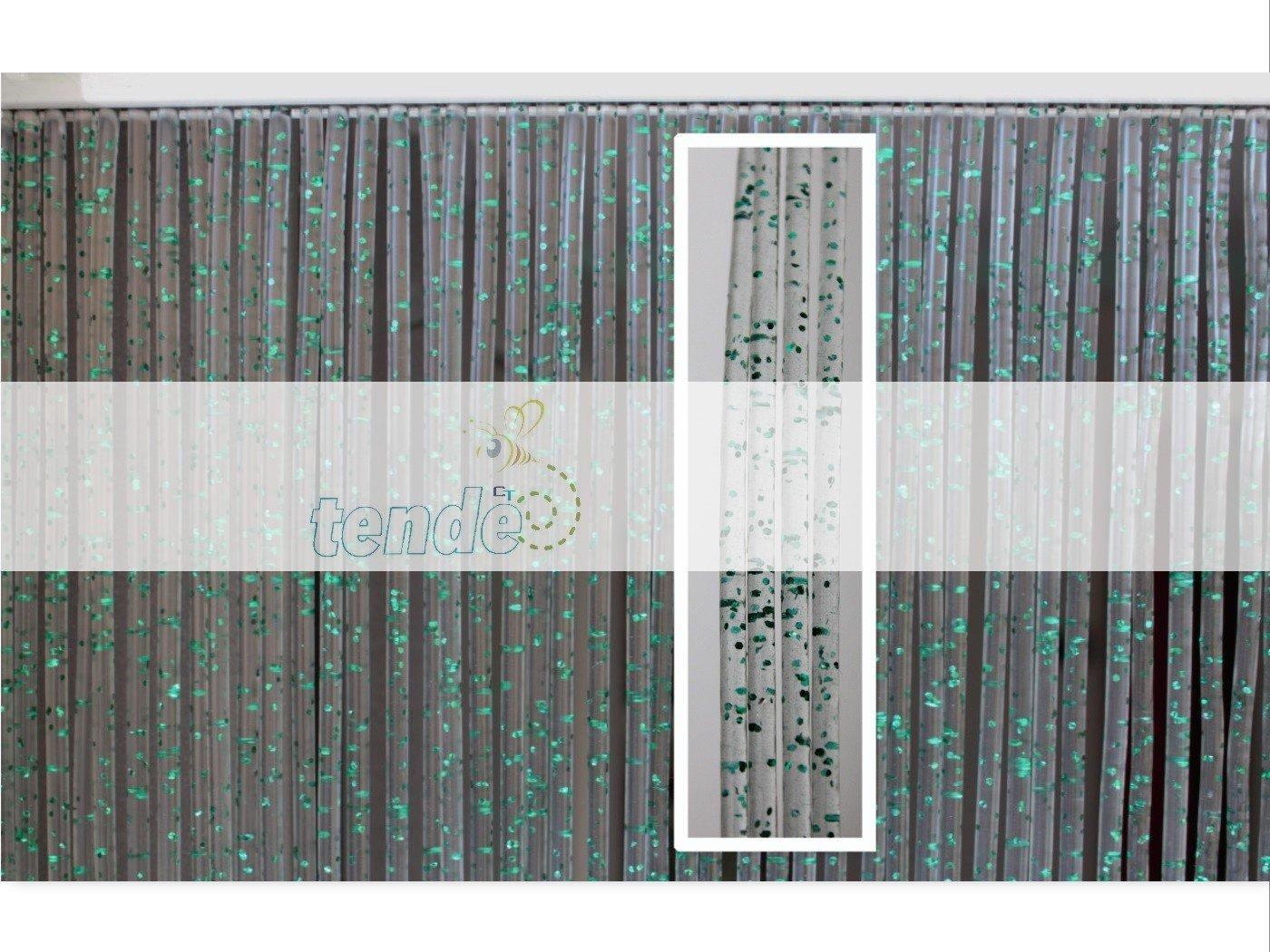 Cirillo Tende PVC-Türvorhänge Modell Modell Modell Diamante - Eichmaß 100X220   120X230   130X240   150X250 - Fliegenvorhang - Kunststoff-Vorhänge (120X230, Silber (2)) B06XGCLT4D Transparente Gardinen 5e1656