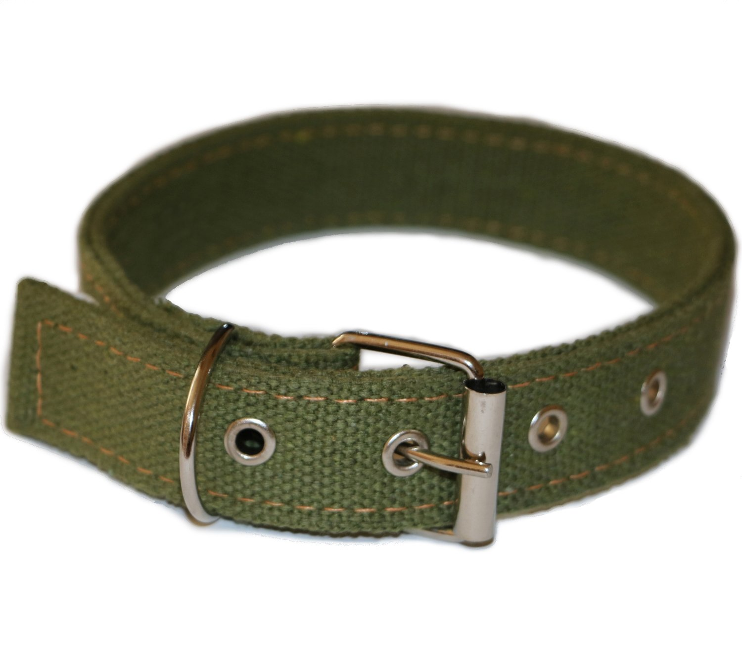 ALAN M-size, Durable double layer tarpaulin dog collar for medium dogs (Neck  13.4-16.9 inches 34-43 cm)