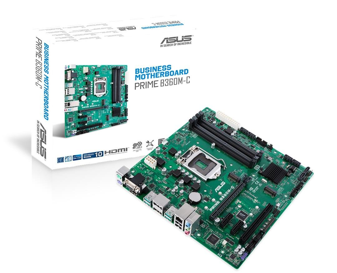 ASUS Prime B360M-C/CSM LGA1151 (Intel 8th Gen) DDR4 DP HDMI VGA M.2 B360 Micro ATX Motherboard by Asus
