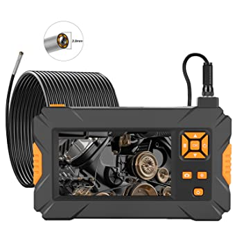 ILIHOME 3.9 mm Camera Head Endoscope Camera 4.3 Inch Screen Professional Inspection Camera 32 GB TF Card is Included 5 Metre Cable 6 LEDs 1080P Waterproof Lens Endoscope with 3000 mAh Battery