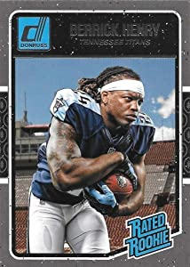 Derrick Henry 2016 Donruss Mint RATED ROOKIE Card #365 Showing this Tennessee Titans Star in His Blue Jersey