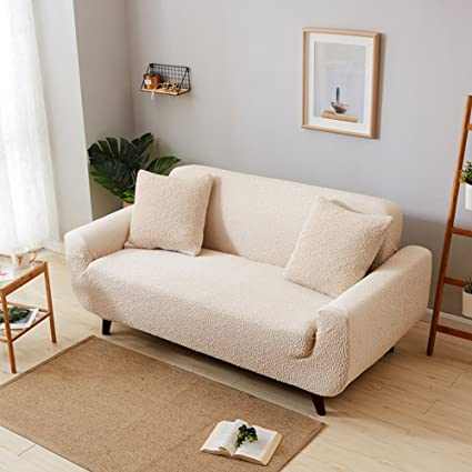 Amazon.com: SCEDGJDVXBB Thickened Solid Color Sofa Cover,Sofa Cover ...