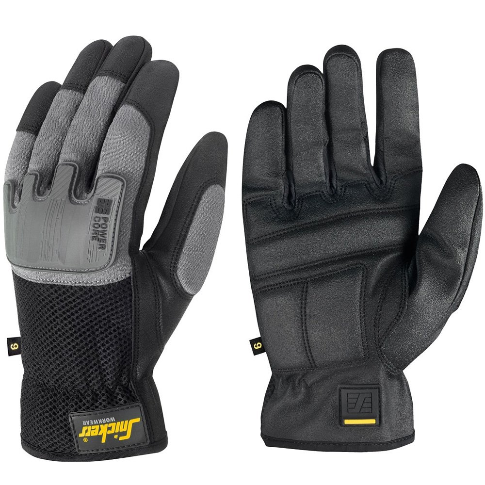 Snickers 95850448009''Core'' Power Gloves, 9, Black/Grey