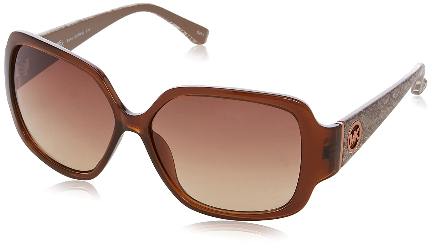 f50676943e5a Michael Kors M2748S Zuma Wayfarer Sunglasses, 025 Havana Tortoise:  Amazon.co.uk: Clothing