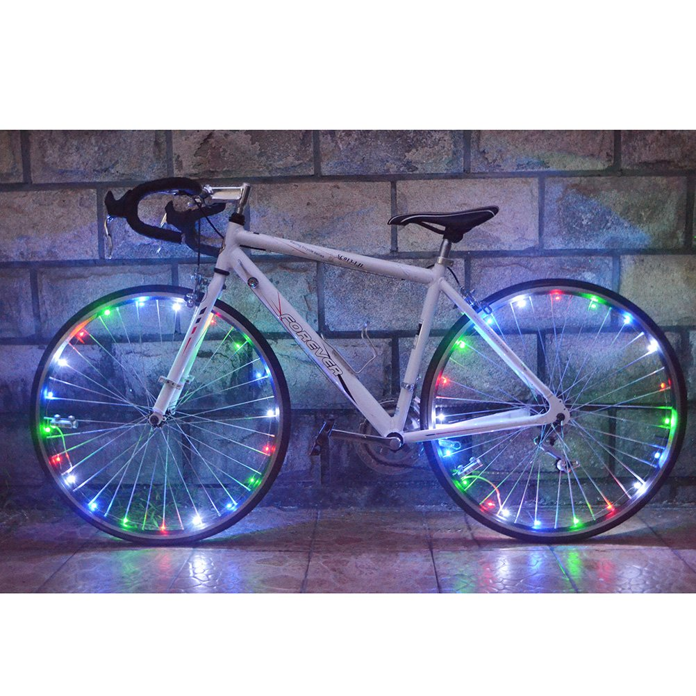 VORCOOL Bike Wheel Lights LED Cycling Tire Light Strip Safety Bike Light for Bike Bicycle MTB Mixed Colors