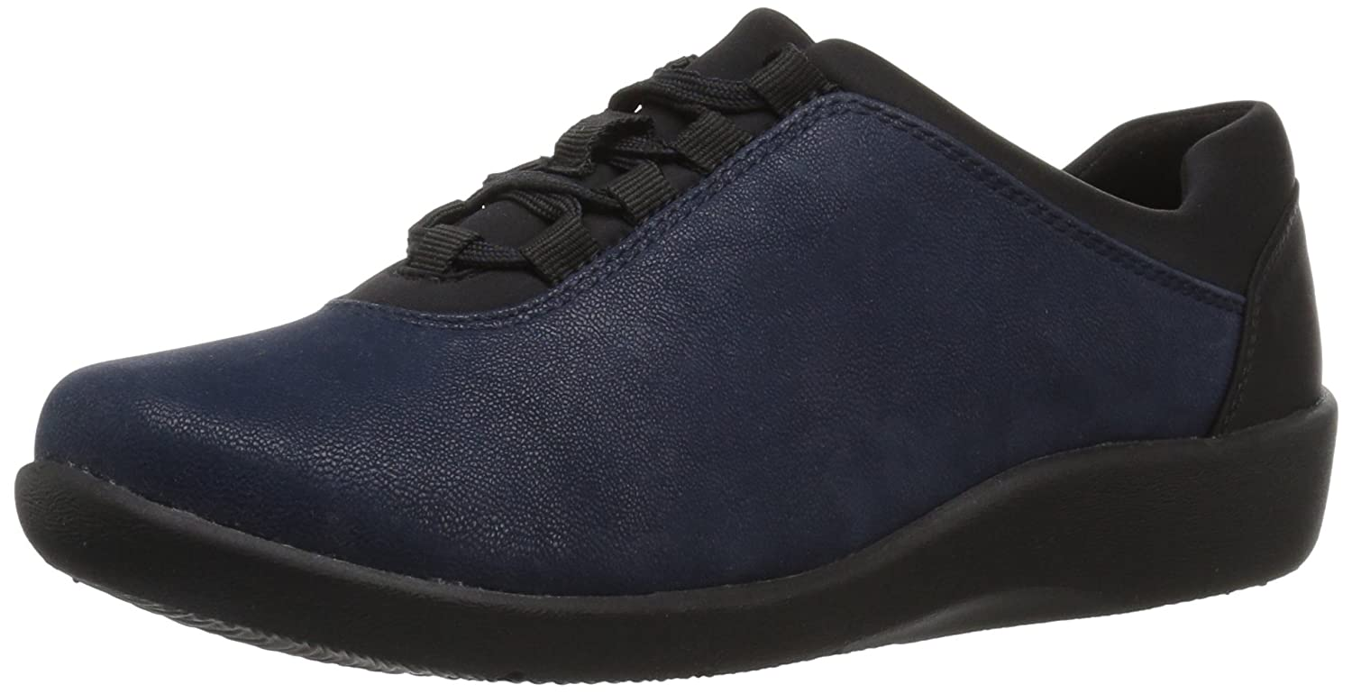 CLARKS Women's Sillian Pine Walking Shoe B01MSYR2UF 6.5 B(M) US|Navy Synthetic
