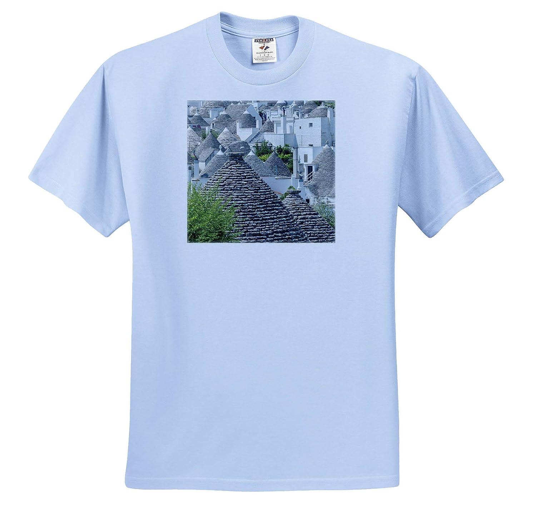 Italy 3dRose Danita Delimont Europe Adult T-Shirt XL Italy ts/_313714 Trulli Houses in Alberobello