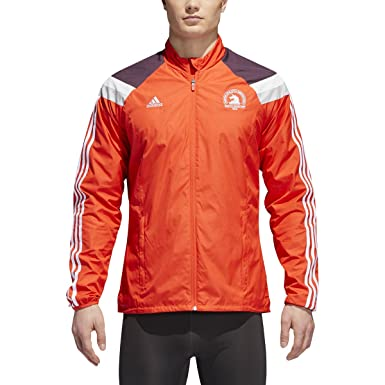 Amazon.com  adidas Men s 2018 Boston Marathon Celebration Jacket ... c7370bf86