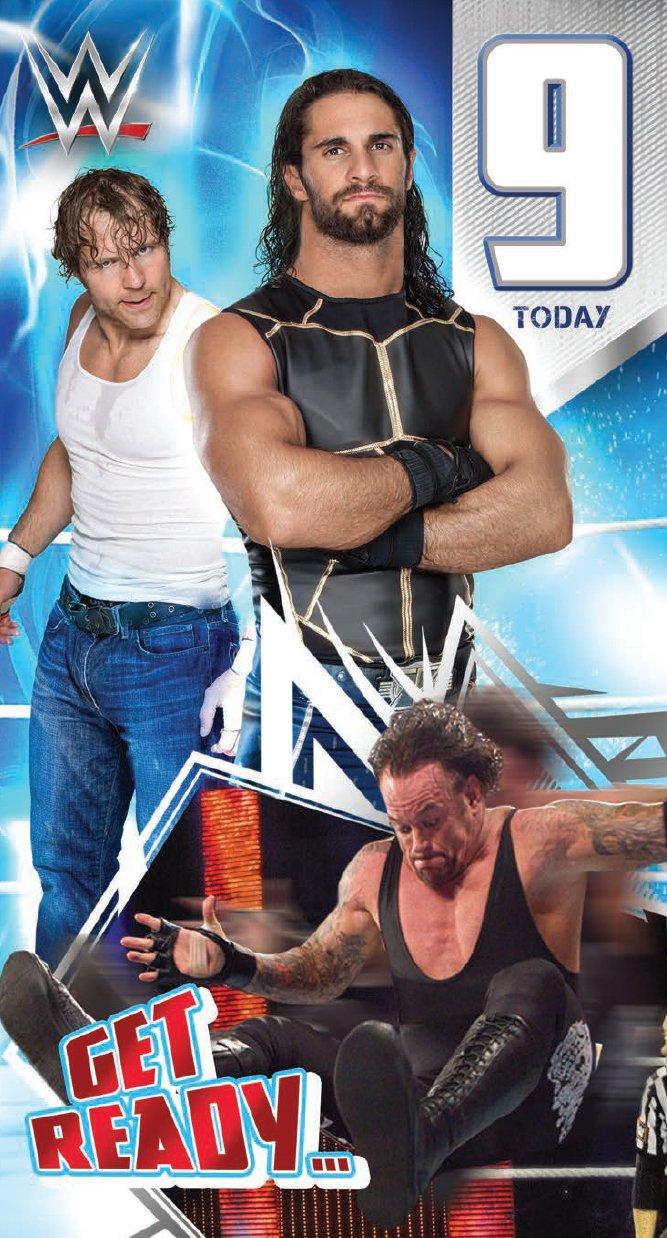 Amazon Wwe 9th Birthday Card The Rock And John Cena Office