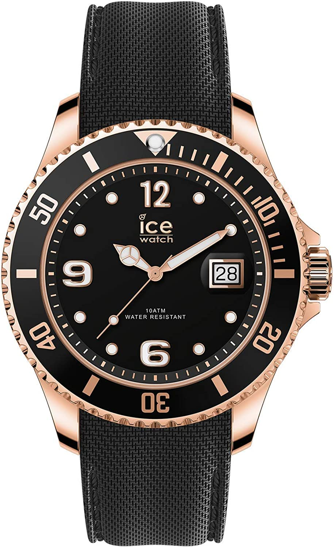 Ice Watch Ice Steel Black Rose Gold Men S Unisex Wristwatch With Silicon Strap 016765 Medium Amazon Co Uk Watches