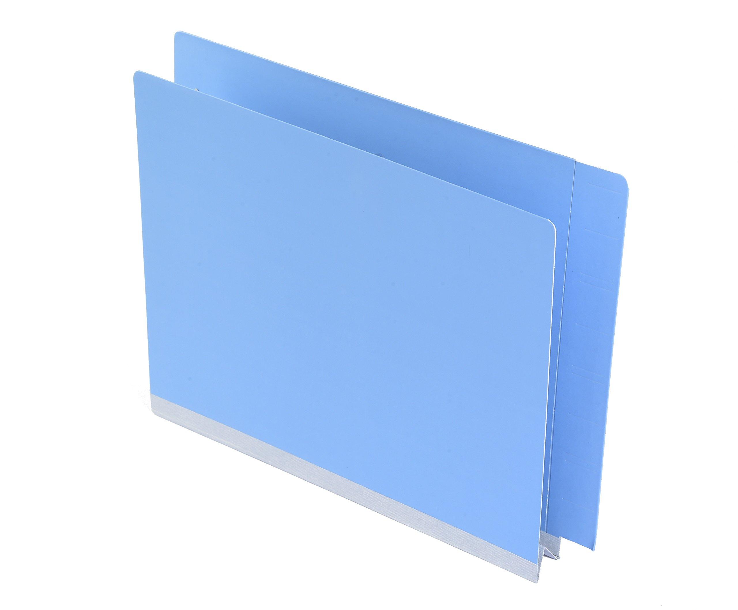 TAB FORTIfile Pressboard Expansion Folder, Azure Blue, 31 pt., 2'' Expansion, with 2 Fasteners, End Tab, Letter, 25 per Pack