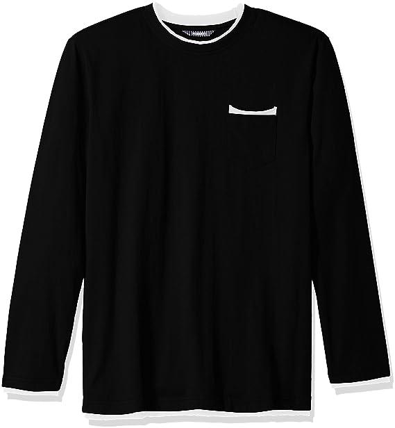 221b783922b ROBUST Men's Round Neck Full Sleeve Raw Edges Detailing T-Shirt