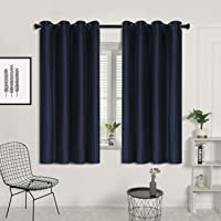SUO AI TEXTILE 2X Silk Faux Dupioni Curtain Eyelet Top 100 Blockout Curtains 3 Layers