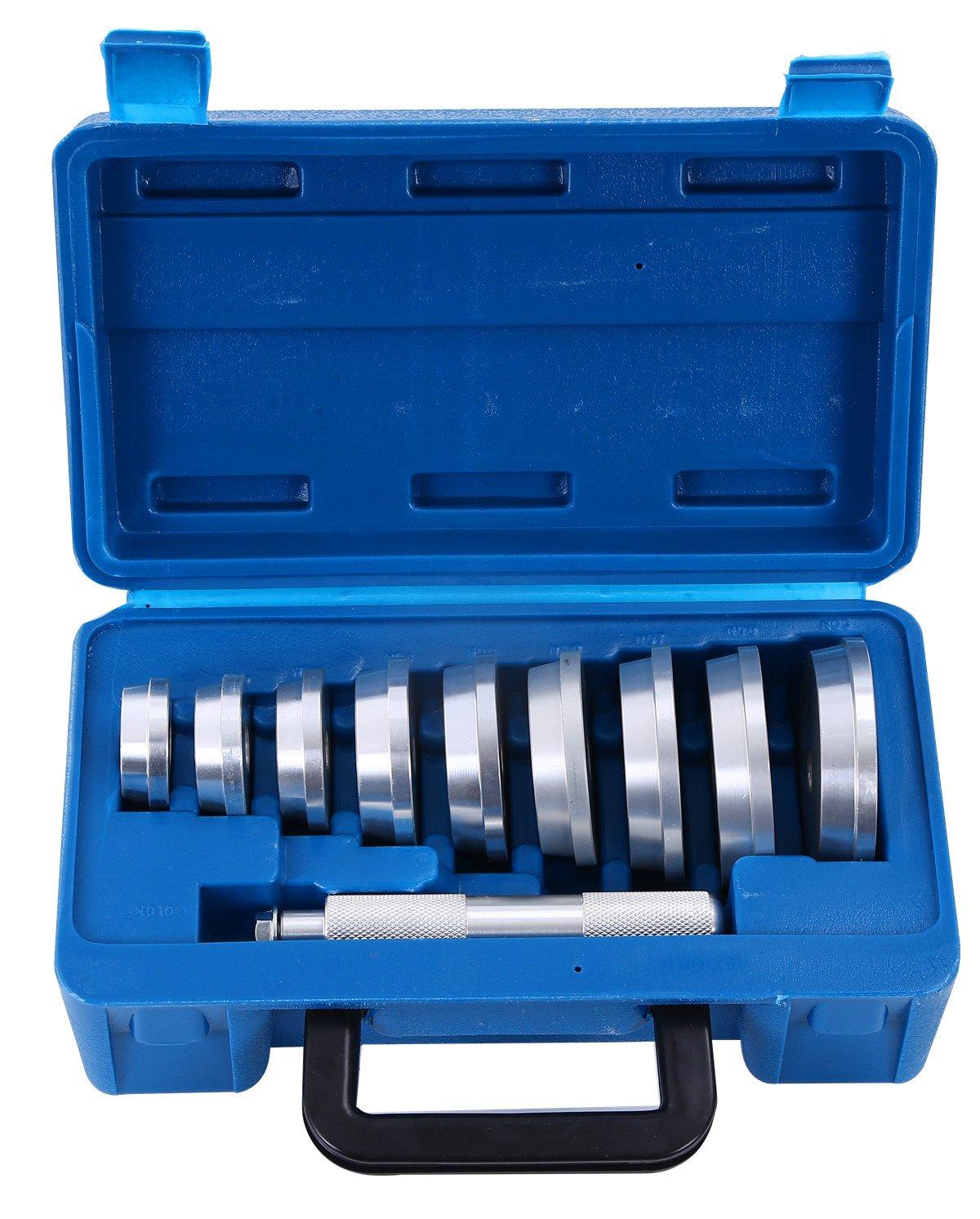 DASBET 10pcs Axle Bushing Bearing Race & Seal Install Driver Master Aluminum Tool Set Ztech Z0065