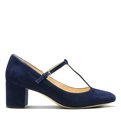 ead118864954 Clarks Orabella Fern Suede Shoes in Navy Wide Fit Size 4  Amazon.co ...