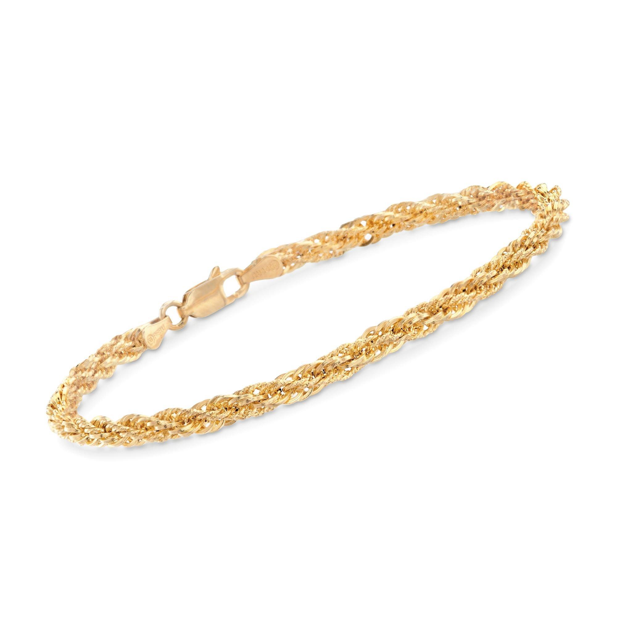 Ross-Simons 14kt Yellow Gold Rope Bracelet