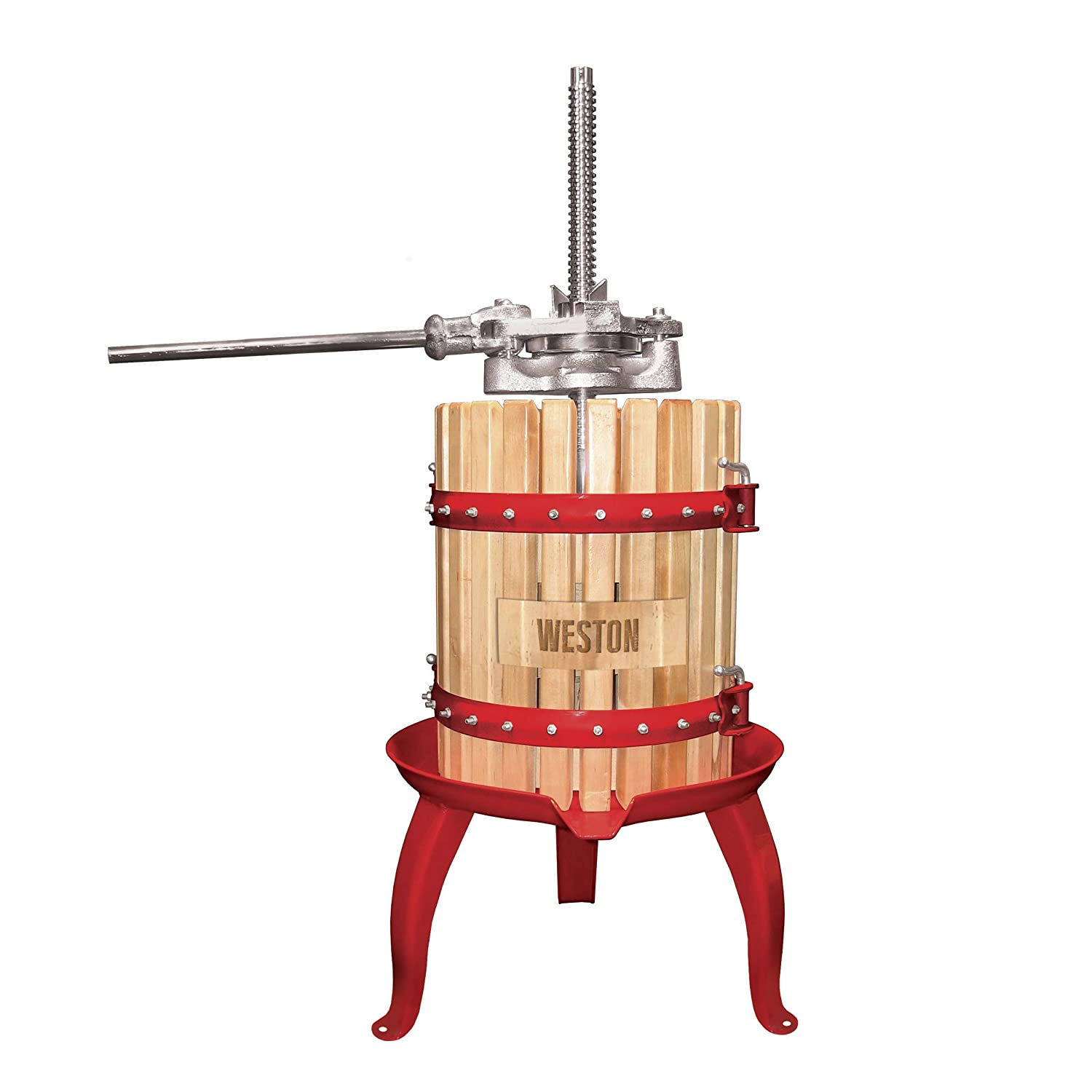 Weston 05-0101 4 Gallon Fruit and Wine Press, with Blocks, for for Juice and Cider
