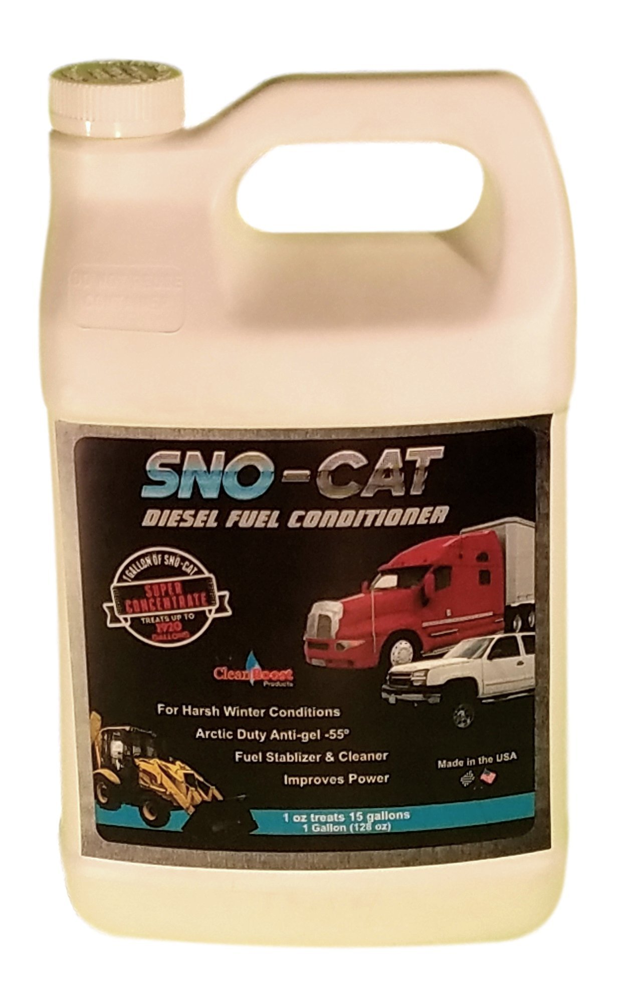 CleanBoost® Sno-Cat™ 128oz (gallon) Anti Gel Fuel Treatment - Treats 1,920 Gallons of Diesel by Boost Performance Products