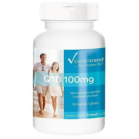 Coenzima Q10 – vegetariana y alta dosis – 180 cápsulas Q10 – para 6 meses